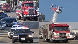 Fire trucks, Police cars and Ambulances responding [Compilation]