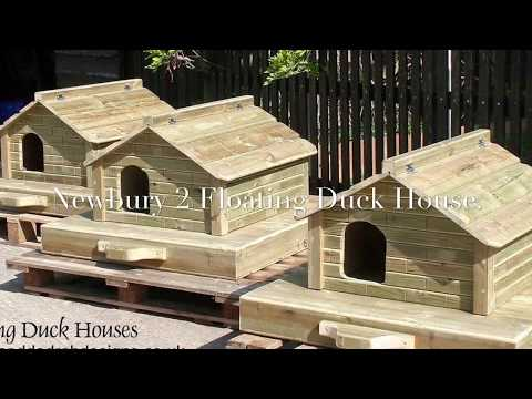 Newbury 2 Floating Duck House by Granddad Rob Designs
