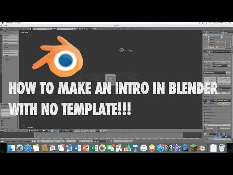 How to make an intro in Blender! (No template) version 2.77