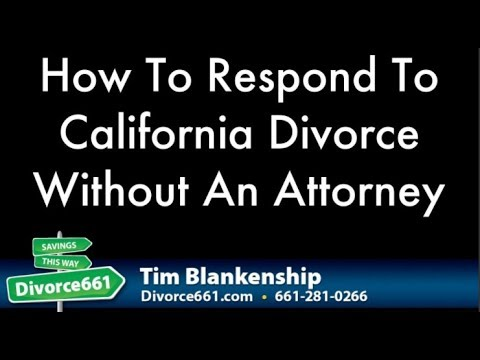 How To Respond To California Divorce Without An Attorney