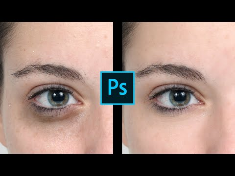 How To Remove Bags Under Eyes in Photoshop