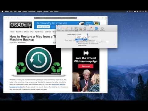 How to Change the Default Search Engine in Safari for Mac OS X
