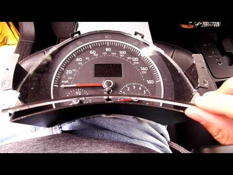 2008 Beetle: Remove Instrument Cluster... One Handed!