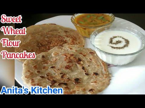 आटे के मीठे चीलवे - Sweet Wheat Flour Pancake - Healthy Pancake mix- Quick and healthy pancake