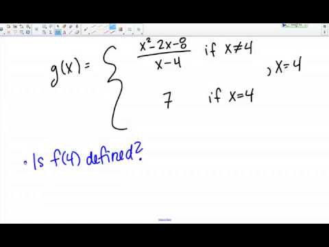 Continuity at a point of a piecewise function