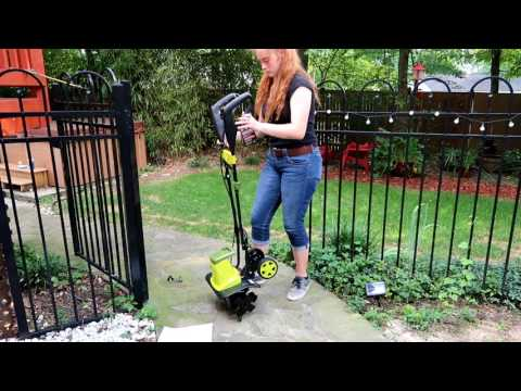 🦋SUN JOE TJ603E  Electric Tiller and Cultivator🍀16-Inch 12-Amp UNBOXING DEMO REVIEW  👈