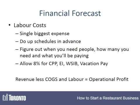How to Start a Restaurant - #2 - Financial Forecast & Start-Up Costs