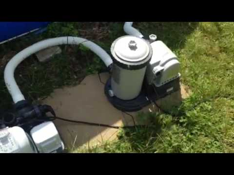 Setting Up Intex Above Ground Pool with Salt Water Chlorinator