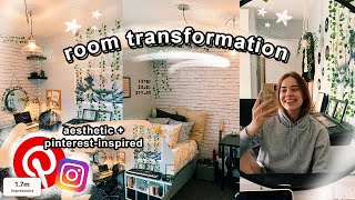 EXTREME ROOM MAKEOVER/TRANSFORMATION! * basic to aesthetic*