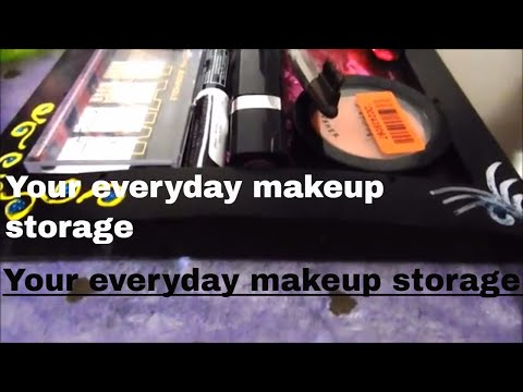 Your everyday makeup storage | DIY | all about skin and makeup