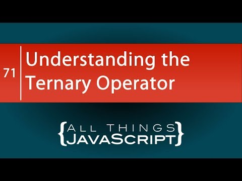 JavaScript Fundamentals: Understanding the Ternary Operator
