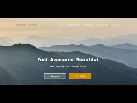 How to create a WordPress website (2017)