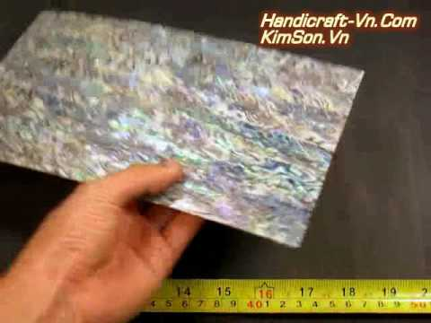 Perfect Green - Abalone Sheet / Veneer / Laminate - Size 240 x 140 x 1 mm