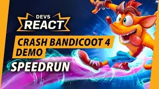 Devs Reacting to a Crash 4 Demo Speedrun Is the Funniest One Yet