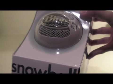 Blue Snowball Microphone Review and Unboxing