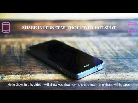 Share Internet Without WiFi Hotspot in Android Phone