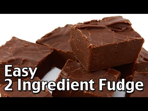 How to Make Easy 2 Ingredient Homemade Fudge
