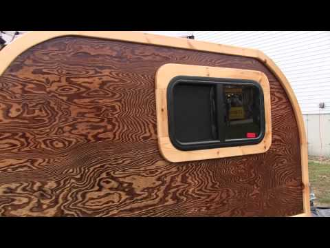 Wooden Camping Homemade Camper & Display Trailer Tiny Home
