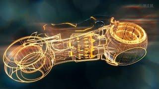 Tron (2010) -  Light Bikes Battle - Only Action [1080p]
