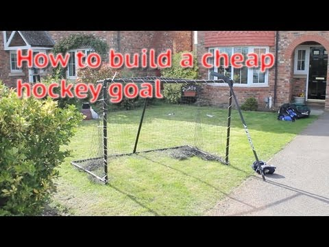 How To Build Or Make A Cheap Hockey Goal From Home - Video Guide Building A Goal