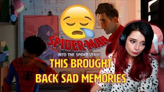 There was ONE scene in Spiderman Into The Spiderverse that 💔broke me 😭 First time watching, reaction