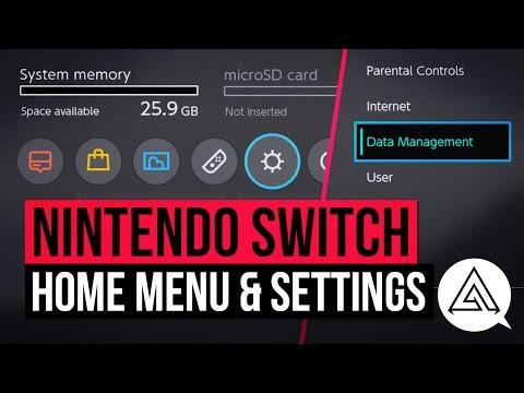 Nintendo Switch | Home Menu & Settings in Depth UI Walkthrough