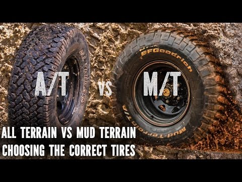 All Terrain vs Mud Terrain, best tyres