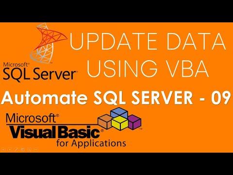 VBA and SQL Server - Update or change existing data in SQL Server Database using VBA. Part-09