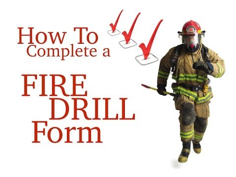 How To Complete A Fire Drill Form