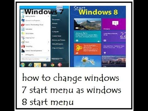 {Hacker's King 007}how to change windows 7 start menu as windows 8 start menu