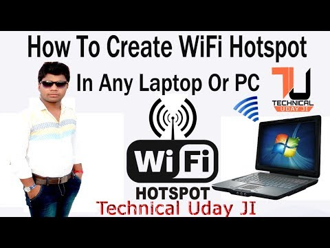 How To Create WiFi Hotspot In Windows without Router - PC/Laptop - (Hindi/Urdu) by Technical Uday Ji