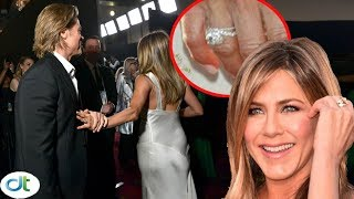 Shock: Jennifer Aniston wears Brad Pitt's wedding ring again after confirming reunion from SAG