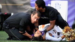 NFL Cheerleader injured during stunt mishap