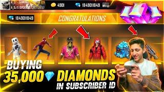 Buying 12,000 Diamond Dj Alok & All Emote & Cobra Mp40 In Subscriber Id - Garena Free Fire