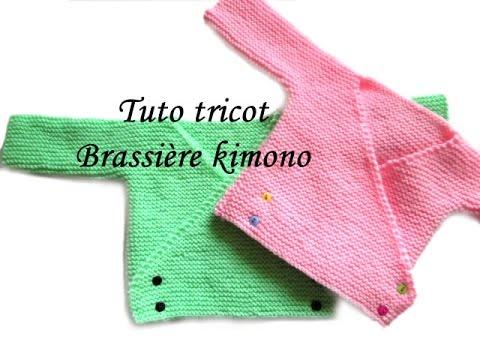 modele tricot kimono bebe