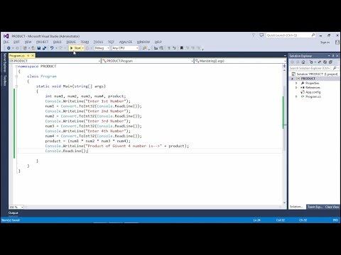 How to run C# basic program using Visual Studio