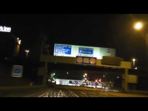 Driving to London Heathrow at Night (HD Timelapse)