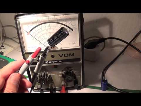 Analog Meter Electrolytic Capacitor Testing