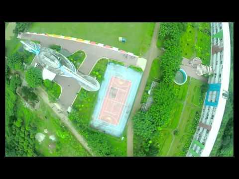 Aerial Video of Daffodil International University Permanent Campus