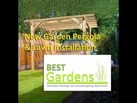 New Garden Pergola & Lawn