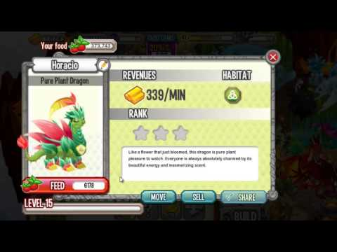 Dragon City PURE PLANT DRAGON - How to Breed EASY!