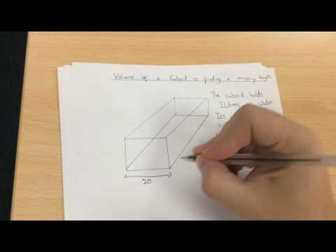 Volume of a cuboid - finding a missing length M