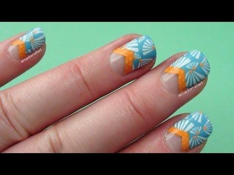 Fun Summer Beach Nails! (stamping optional)
