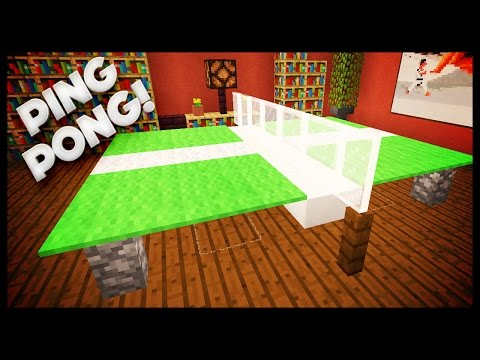Minecraft -  How To Build A Ping Pong Table