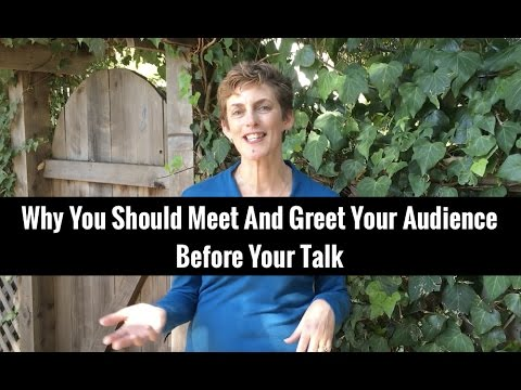 A Quick Technique To Calm Nerves And Connect With Your Audience Before Your Talk | Karen Catlin