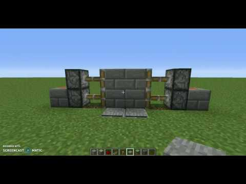 How To Make A 2x2 Piston Door Activated by Pressure Plate (Super Fast And Easy)