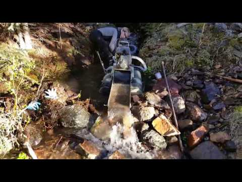 Dredging in Montana KEENE 2 INCH BACKPACK DREDGE MODIFIED