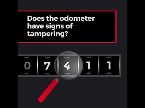 How to spot odometer fraud