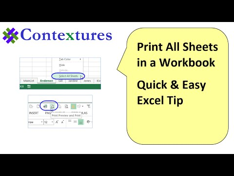 Print All Sheets in Excel File