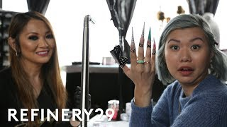 Cardi B's Nail Artist Gave Me 2 Inch Nails | Beauty With Mi | Refinery29